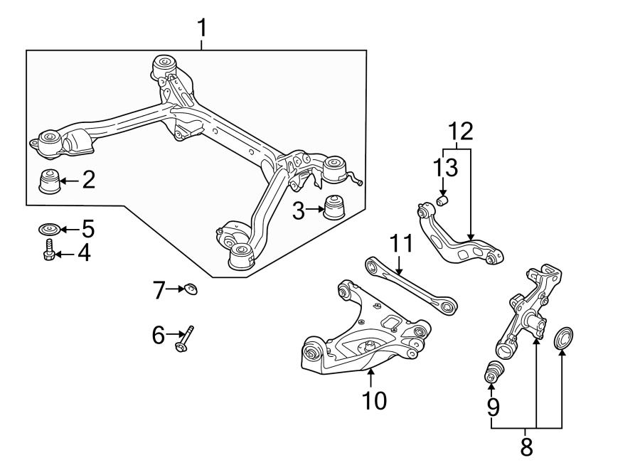 2005 Audi A4 Suspension Control Arm Bushing (Upper). Left