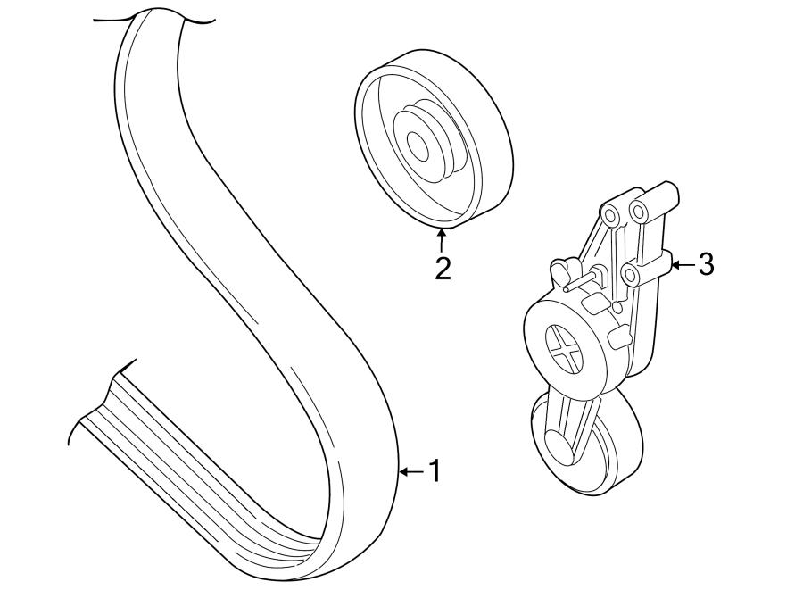 2007 Audi Accessory Drive Belt Idler Pulley. ROLLER. 1.8