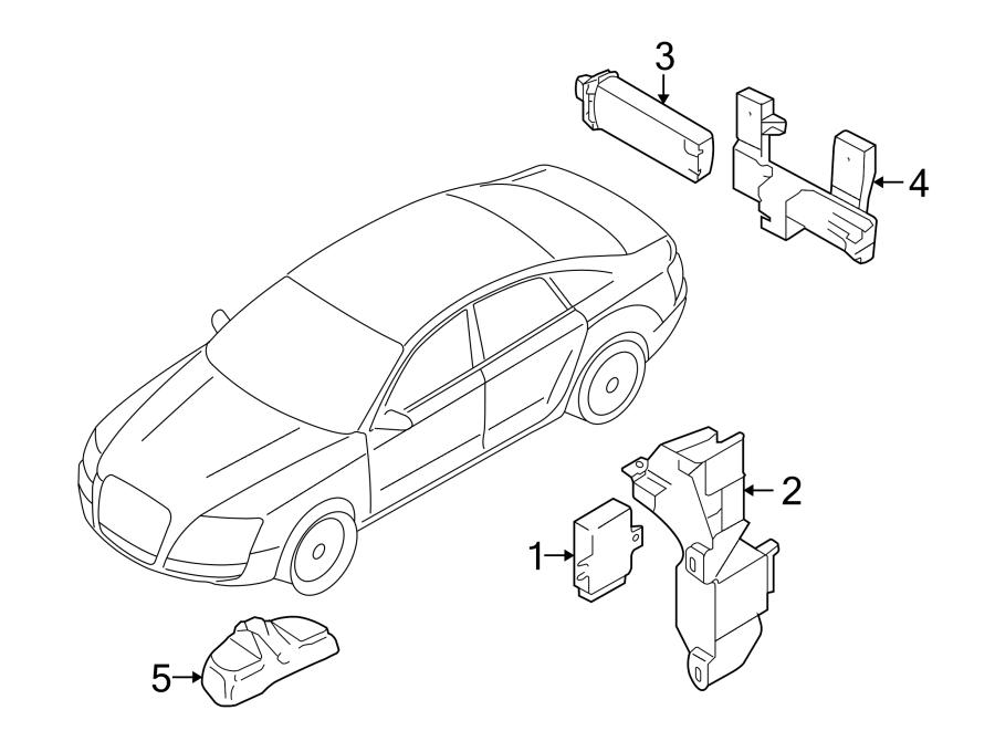 Audi A4 Tire Pressure Monitoring System Antenna. A4