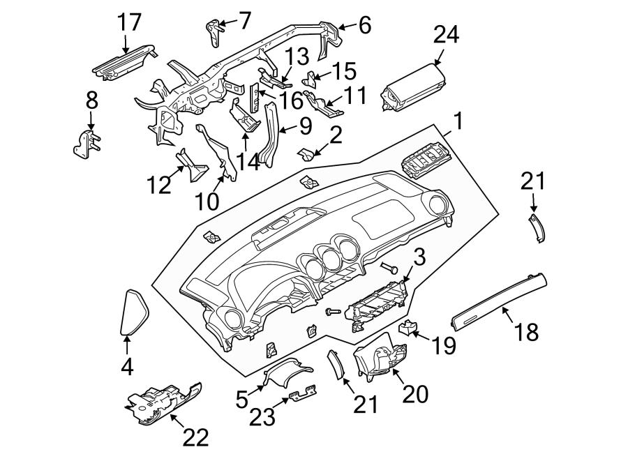 Audi RS4 Instrument Panel Bezel. RS4, deep black. Trim