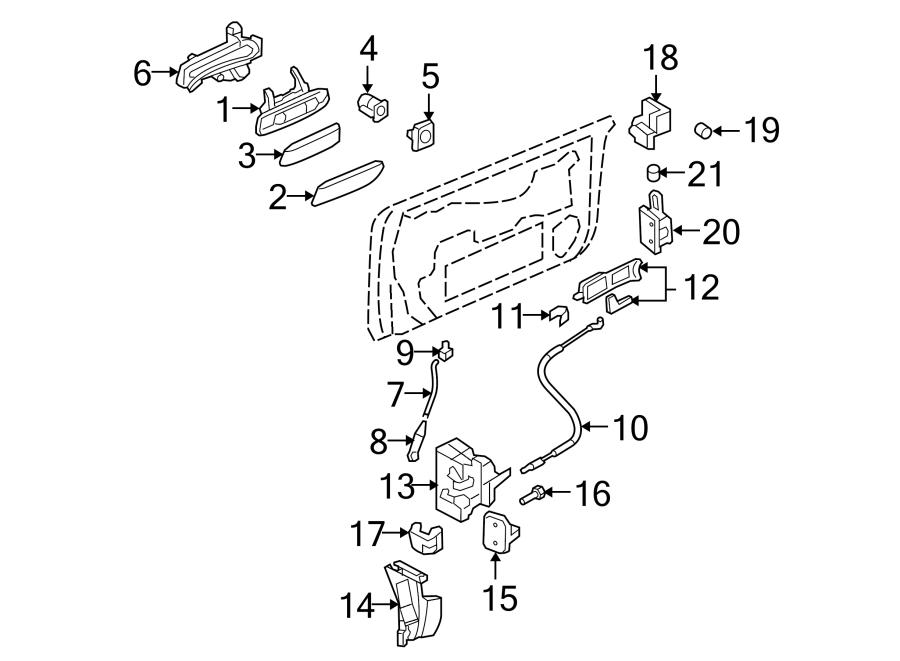 Audi A4 Lock. Latch. Door. Left, Actuator, Doesn