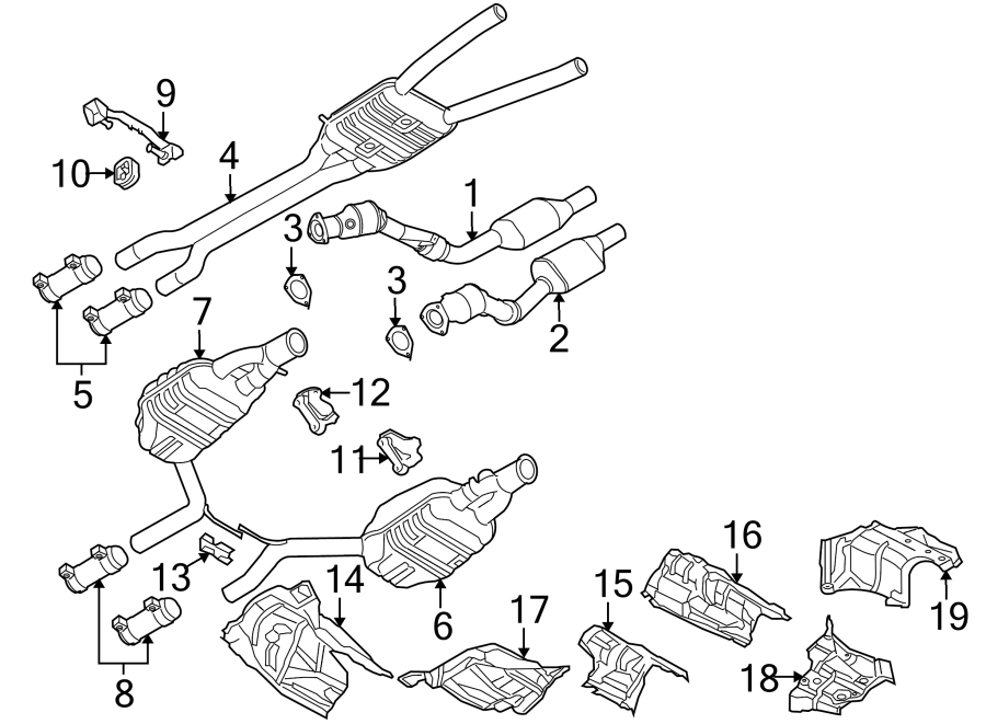 Audi S4 Muffler. Resonator. Silencer. 4.2 liter, a4/s4