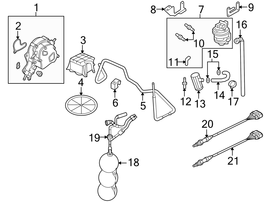 Audi A4 A. I. R. Pump. Power brake booster vacuum pump