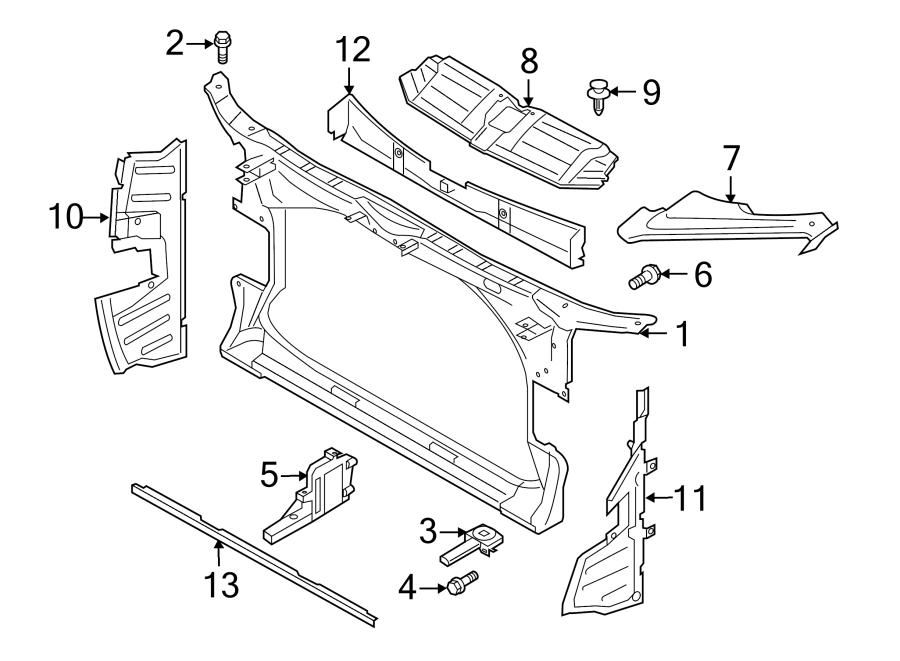 2015 Audi Radiator Support Baffle (Front). 3.0 LITER, w