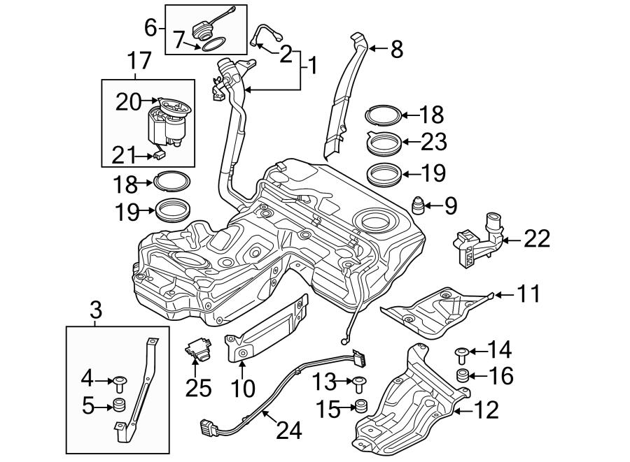 2012 Audi Tank. Insulator. Fuel. Bracket. Rear, DIESEL