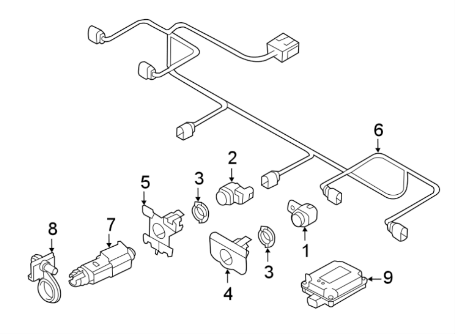 Audi A7 Parking Aid System Wiring Harness. SensorS