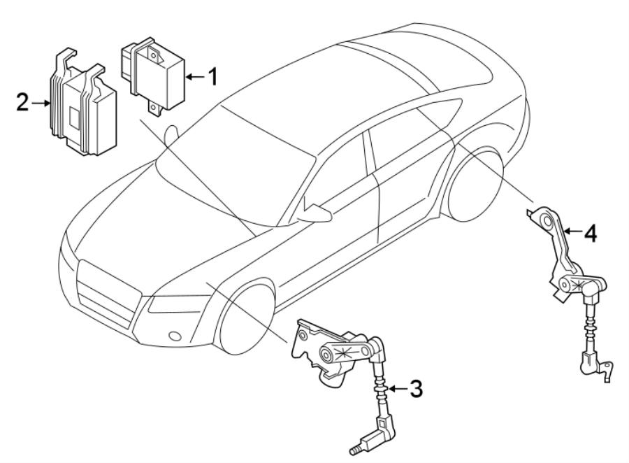2006 Audi A4 Control module. Ecu. Headlamp, directional
