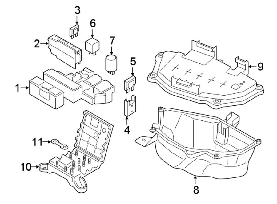 Audi A7 Main fuse. Maxi fuse. Mini fuse. Included with