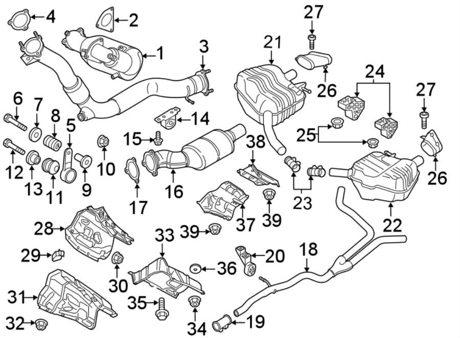 2016 Audi Q5 Filter. Exhaust. Diesel, PARTICULATE, LITER