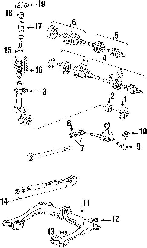 1991 Audi Suspension Control Arm Bushing (Front, Rear