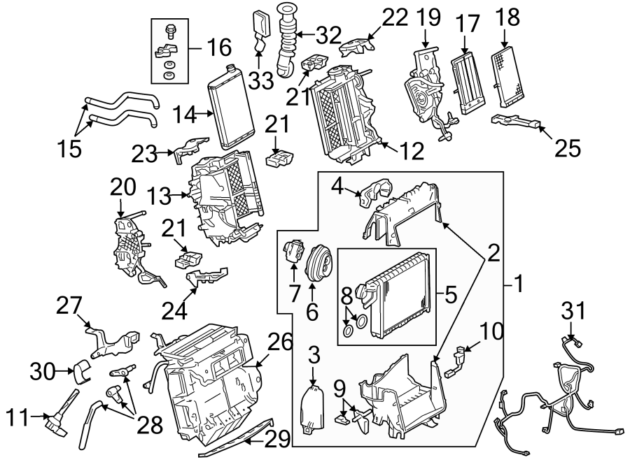 2010 Audi A5 Air conditioning (a/c) expansion valve. From