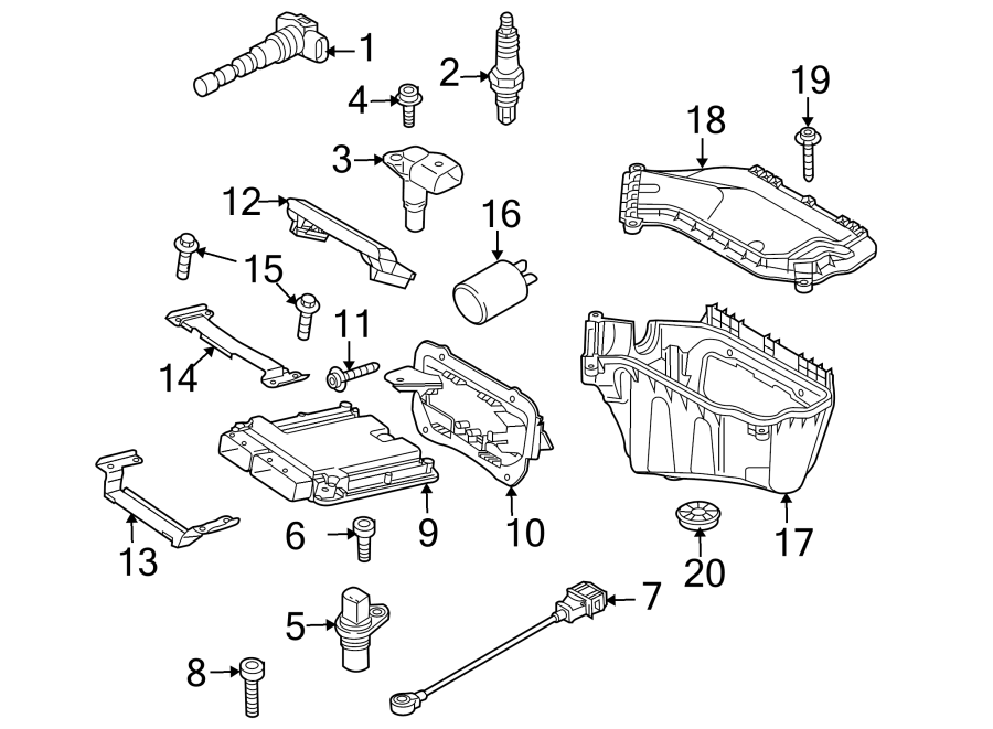 Audi A5 Baffle. Engine control module cover. Engine