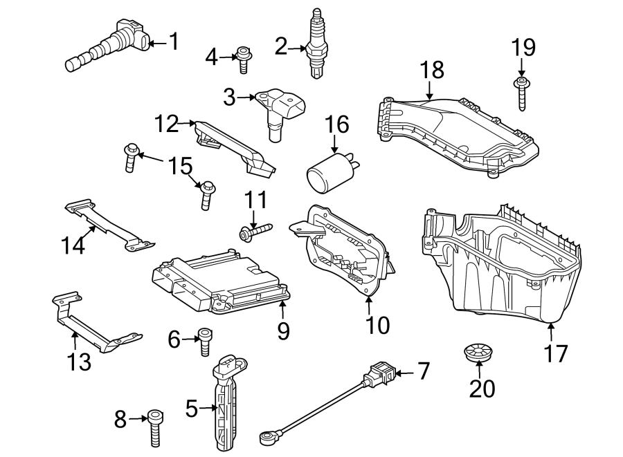 2010 Audi A8 Engine Crankshaft Position Sensor. Parameters