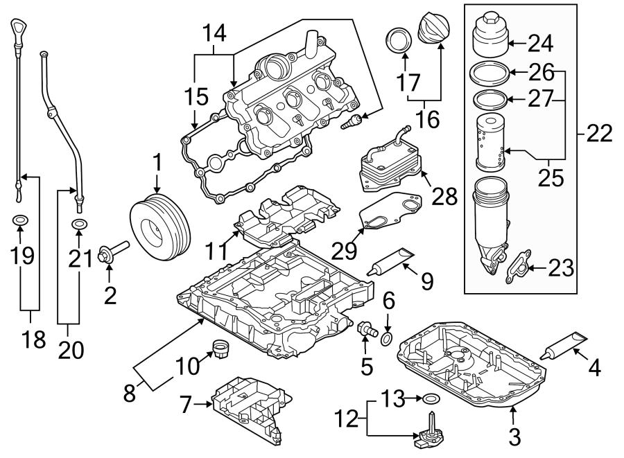 2012 Audi Q7 Engine Intake Manifold Gasket (Lower