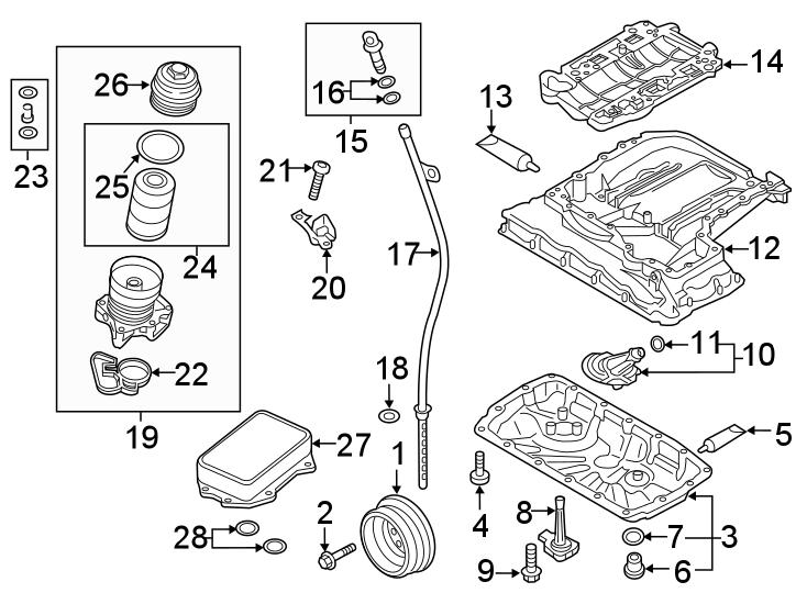 2019 Audi RS5 Sportback Engine Oil Filter Element