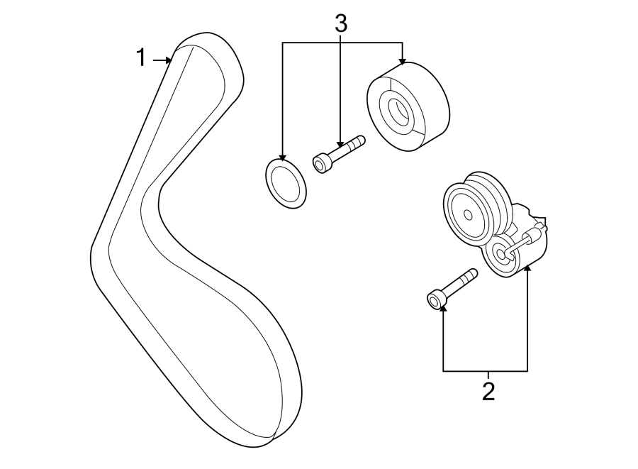 2011 Audi Accessory Drive Belt Tensioner Assembly