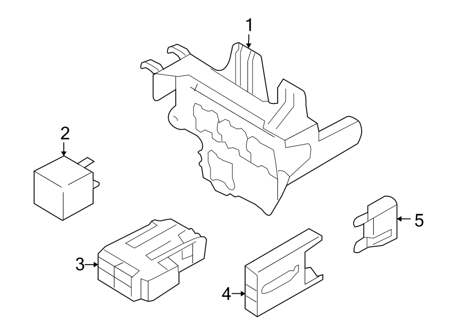 Audi S5 Carpet trim clip. Fuse Box. Holder. Compartment