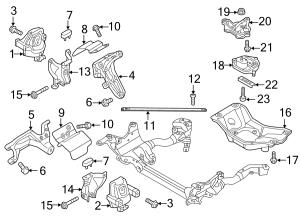 2014 Audi S5 Prestige Convertible Mount ENGINE 30 LITER