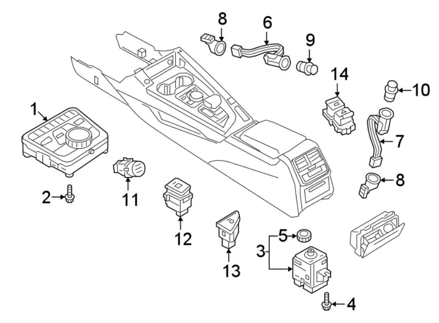 2018 Audi 12 volt accessory power outlet (front, rear