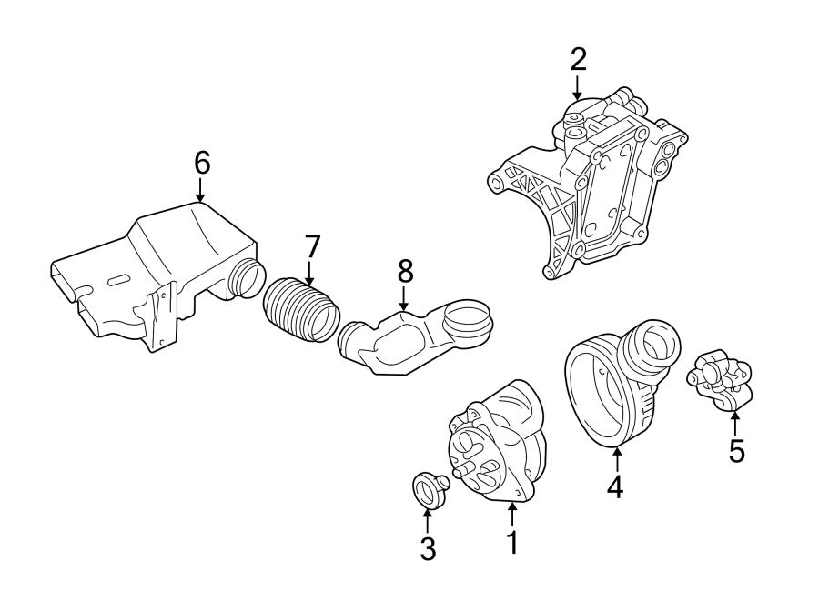 2003 Audi A6 Alternator Air Duct. 4.2 LITER. Telematics