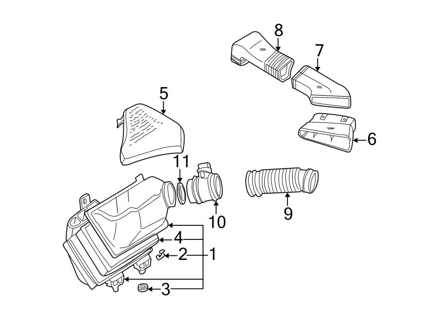 Audi A6 Air Meter. Mass Air Flow Sensor. LITER