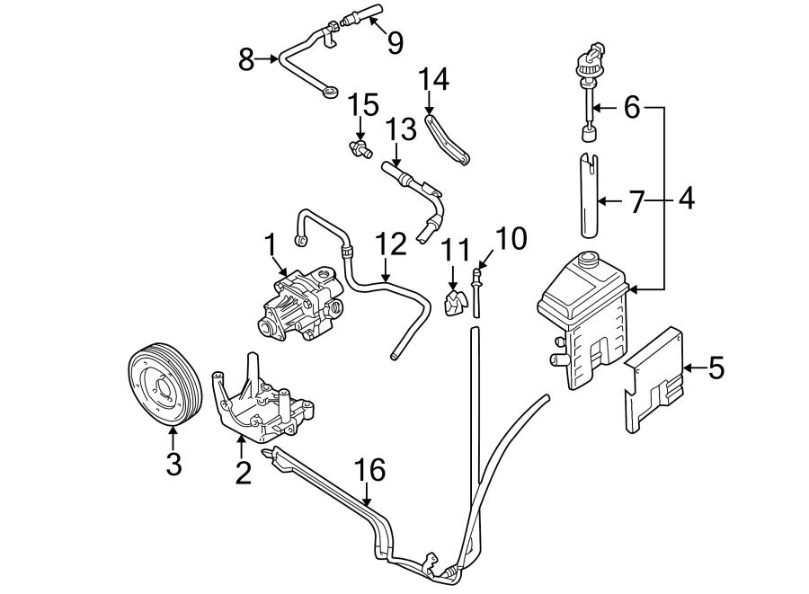1999 Audi A6 Hose. Return. (Upper, Lower). Steering, LITER