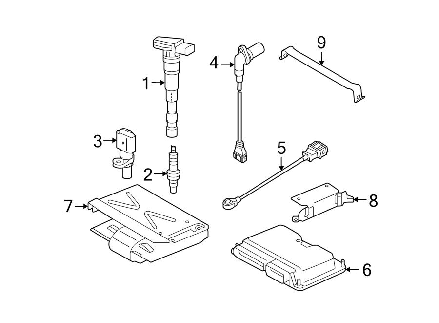 Audi A6 Engine Camshaft Position Sensor. LITER, Left