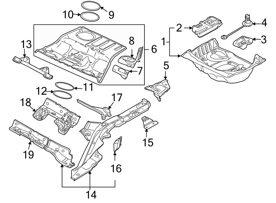 2005 Audi Fuel Tank Access Cover Gasket. Trunk Floor