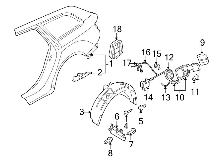 2009 Audi Fuel Filler Door Lock Actuator. Release, SEDAN