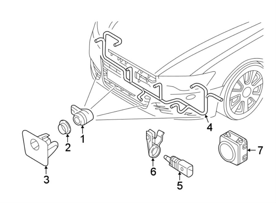 Audi A6 Harness. Camera. Parking Aid System Wiring. Sensor