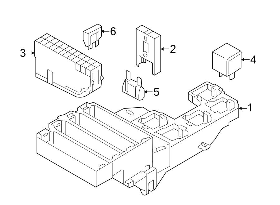 2013 Audi S6 Fuse. Relay. Box. REAR, Mount, Panel