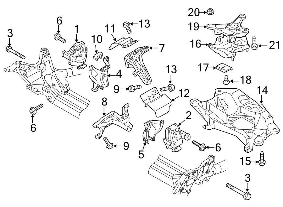 2018 Audi A6 Automatic Transmission Mount. LITER, Diesel