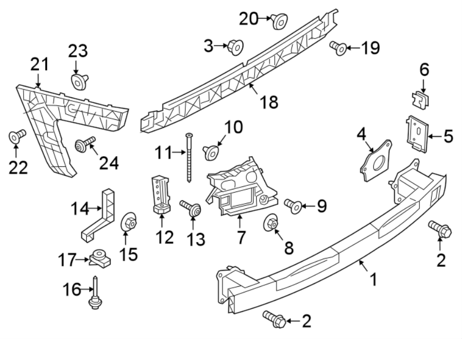 Audi A6 Bumper Guide (Upper). S6, BRACKET & COMPONENTS. W