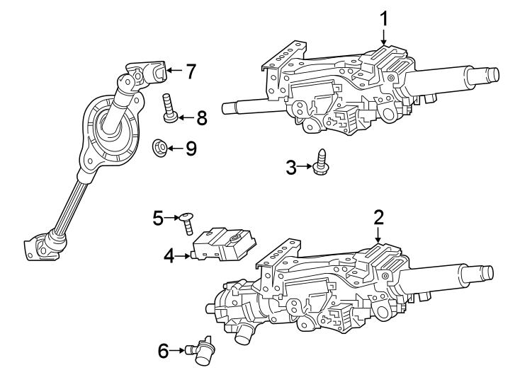 Audi A6 Steering. Immobilizer. LOCK. MODULE. Column. Unit