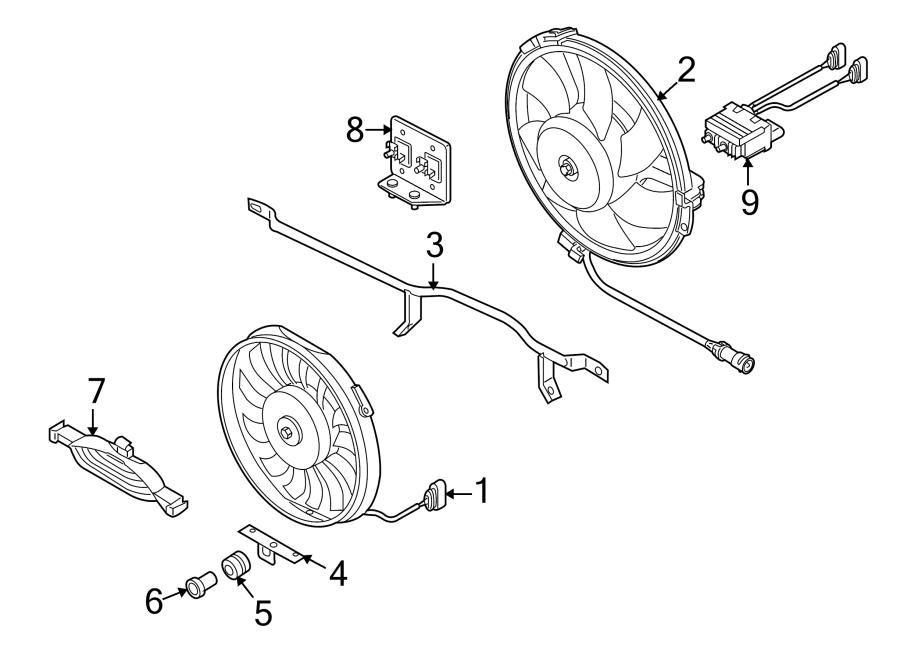 Audi A4 Engine Cooling Fan Controller. 2.7 & 2.8 LITER, 2