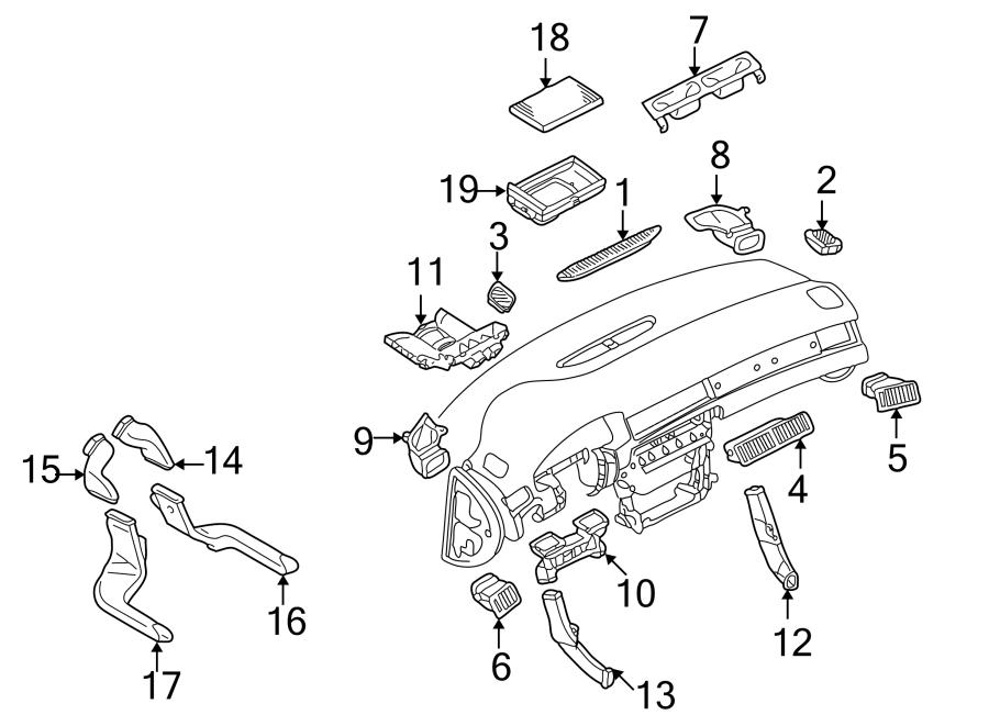 2004 Audi Cabin Air Filter Case. Cabin Air Filter Case