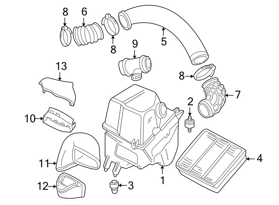 2002 Audi Engine Air Intake Hose. 4.2 LITER, 2000-03