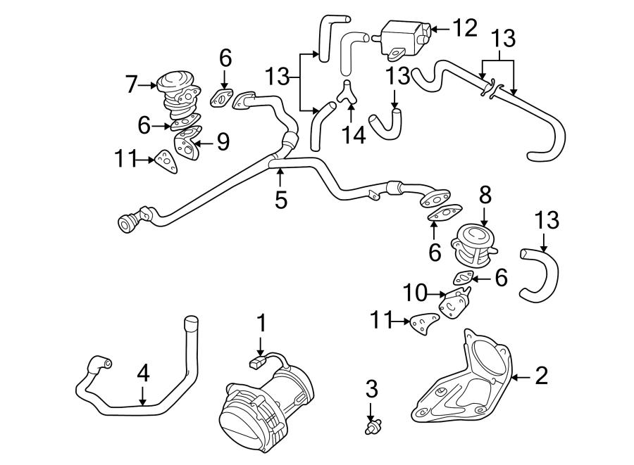 2000 Audi A. I. R. Pump bracket. Secondary air injection