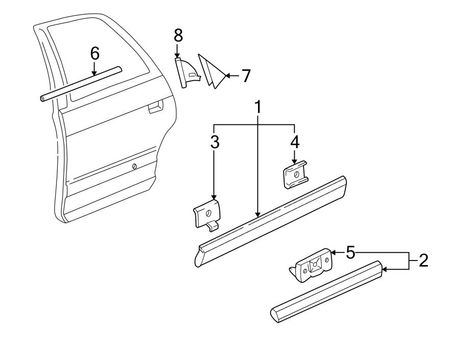 Audi A8 Molding. Body side. Door. Strip. Upper. A8 & s8