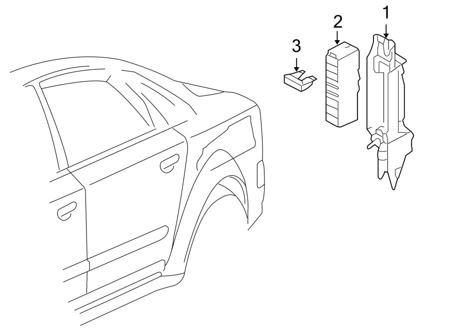 2004 Audi A8 L Sedan 4.2L V8 A/T Quattro Fuse. Amp