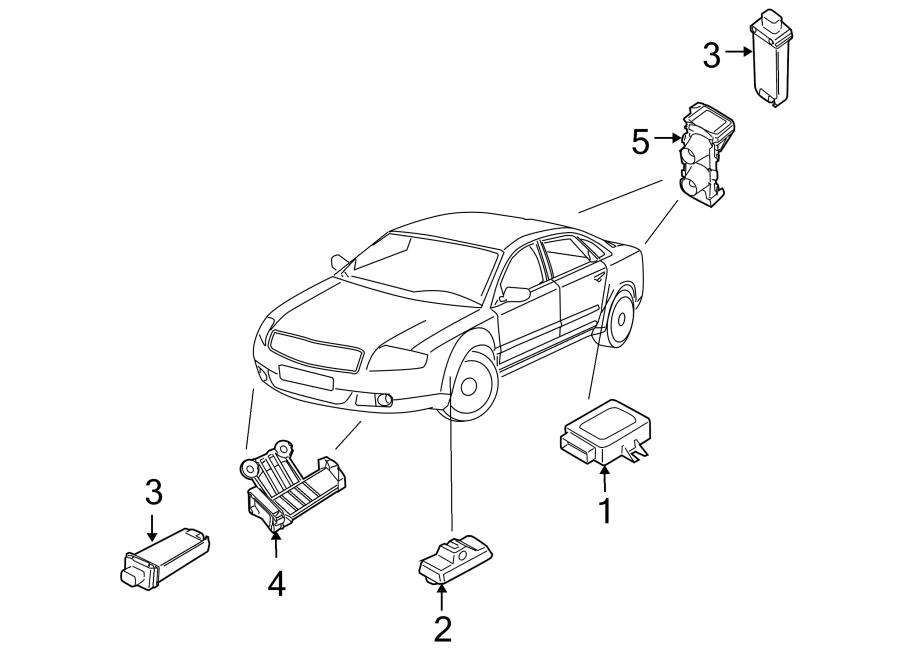 2009 Audi Tire Pressure Monitoring System Antenna Bracket