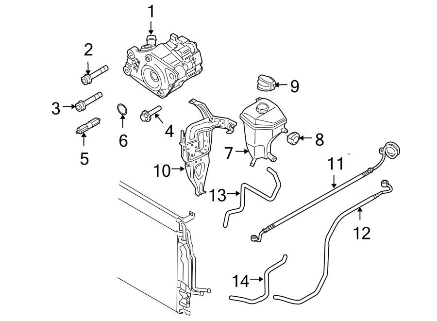 Audi A8 Power Steering Pump Mounting Bolt. 4.2 LITER, 2007