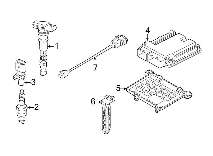 2013 Audi Engine Control Module Bracket. LITER, GAS
