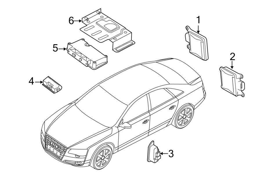 Audi A8 Lane Departure System Camera. Change, Assist