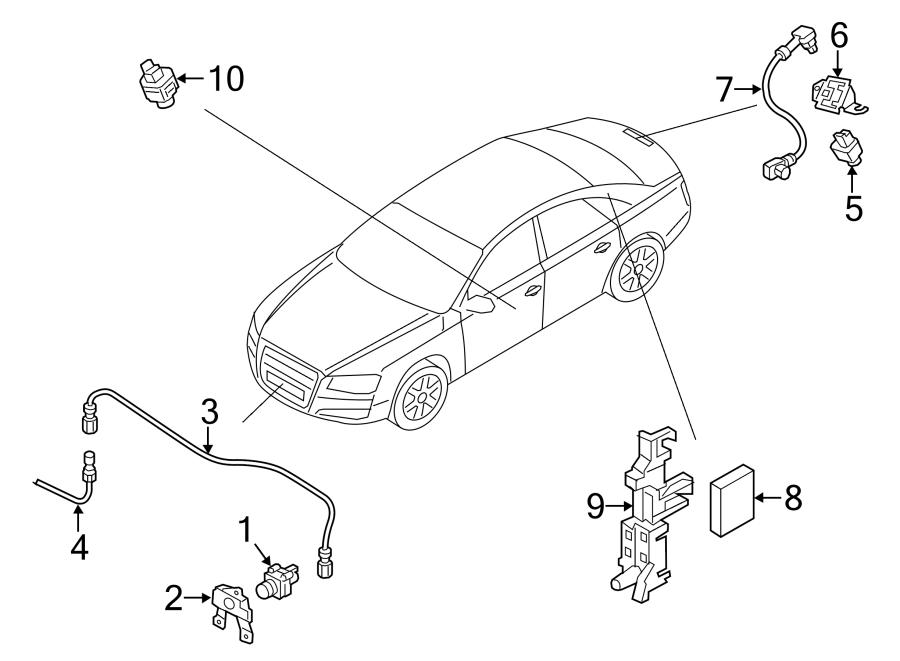 2018 Audi S8 Parking Aid Control Module. Camera, Front