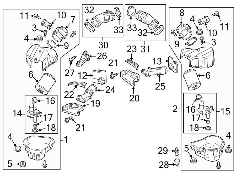 2015 Audi Bracket. Air. Cleaner. SUPPORT. Mount. Retainer