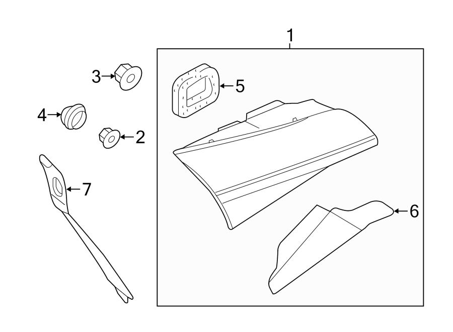 2017 Audi A8 Tail lamp ASSEMBLY nut. Tail Light Nut. Turn