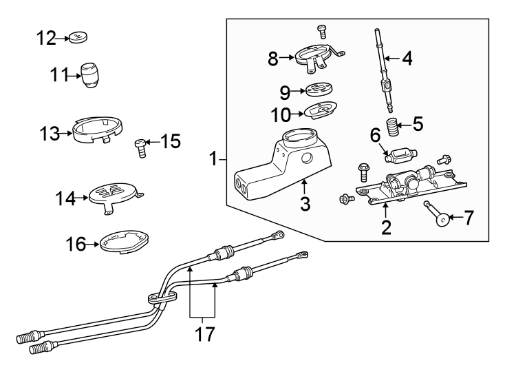 2014 Audi R8 Base Coupe 5.2L V10 A/T Cable. Shift