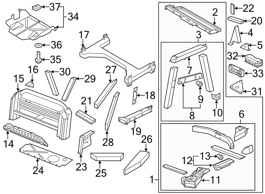 2015 Audi R8 Rear Body Reinforcement (Rear, Upper). COUPE