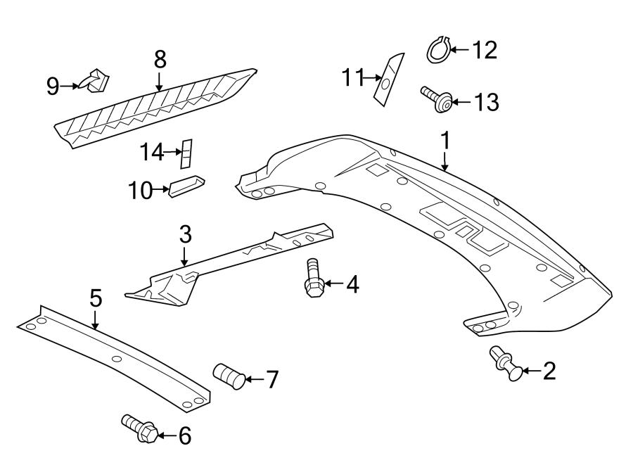 2015 Audi R8 Support clip. Vent grille clip. (Rear). COUPE